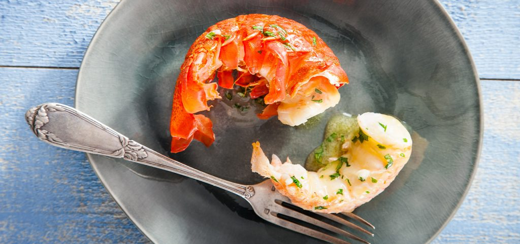 Cooked Rock lobster by Sapmer